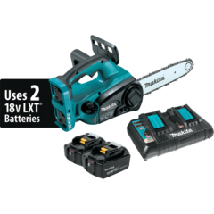 Makita 18V X2 LXT® Lithium-Ion (36V) Cordless Chain Saw Kit, dual port charger (4.0Ah)