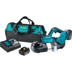Makita 18V LXT® Lithium-Ion Cordless Compact Band Saw Kit, L.E.D. Light, bag (5.0Ah)