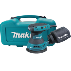 "Makita 5"" Random Orbit Sander, 3 AMP, 4,000-12,000 OPM, var. spd., case"