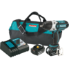 "Makita 18V LXT® Lithium-Ion Cordless 1/2"" Sq. Drive Impact Wrench Kit, rev., L.E.D. Light, bag (4.0Ah)"