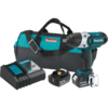 "Makita 18V LXT® Lithium-Ion Cordless 1/2"" Sq. Drive Impact Wrench Kit, rev., L.E.D. Light, bag (5.0Ah)"