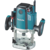 Makita 3-1/4 HP Plunge Router, 9,000-22,000 RPM, var. spd., L.E.D. Lights, electric brake