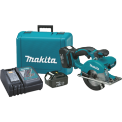 "Makita 18V LXT® Lithium-Ion Cordless 5-3/8"" Metal Cutting Saw Kit, blade right, L.E.D. Light, case"