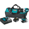 "Makita 18V LXT® Lithium-Ion Brushless Cordless High Torque 1/2"" Sq. Drive Impact Wrench Kit w/ Friction Ring Anvil, var. spd., rev., L.E.D. Lights, bag (5.0Ah)"