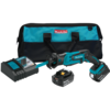 Makita 18V LXT® Lithium-Ion Cordless Compact Recipro Saw Kit, var. spd., tool-less blade change, L.E.D. Light, bag (5.0Ah)
