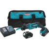 Makita 18V LXT® Lithium-Ion Cordless Compact Recipro Saw Kit, var. spd., tool-less blade change, L.E.D. Light, bag (3.0Ah)