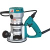 Makita 2-1/4 HP D-Handle Router, 8,000-24,000 RPM, var. spd.