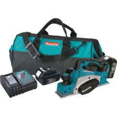 "Makita 18V LXT® Lithium-Ion Cordless 3-1/4"" Planer Kit, bag (3.0Ah)"