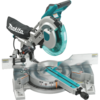 "Makita 10"" Dual Slide Compound Miter Saw, laser"