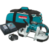 Makita 18V LXT® Lithium-Ion Cordless Portable Band Saw Kit, var. spd., L.E.D. Light, bag (3.0Ah)