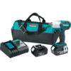 "Makita 18V LXT® Lithium-Ion Cordless 1/2"" Sq. Drive Impact Wrench Kit, var. spd., rev., L.E.D. Light, bag"