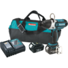 "Makita 18V LXT® Lithium-Ion Cordless High Torque Quick Change 7/16"" Hex Impact Wrench Kit, bag"