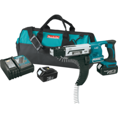 "Makita 18V LXT® Lithium-Ion Cordless Autofeed Screwdriver Kit (1"" to 2-1/8""), bag"
