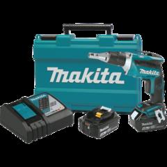 Makita 18V LXT® Lithium-Ion Brushless Cordless Drywall Screwdriver Kit, var. spd., L.E.D. Light, case (4.0Ah)