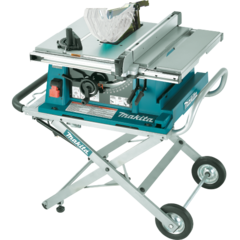 """Makita 10"""" Contractor Table Saw, electric brake, stand"""