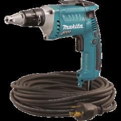 Makita Drywall Screwdriver, 6 AMP, 0-4,000 RPM, var. spd., reversible, L.E.D. Light with 50 ft. twist-lock cord