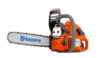 "Husqvarna 445 16"", .325 pitch, .050 Ga. 45.7cc Chainsaw Assembled"
