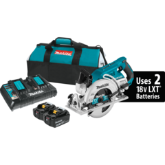 "Makita XSR01PT 18V X2 LXT® Lithium‑Ion (36V) Brushless Cordless Rear Handle 7‑1/4"" Circular Saw 18V X2 LXT® Lithium‑Ion (36V) Brushless Cordless Rear Handle 7‑1/4"" Circular Saw Kit (5.0Ah)"