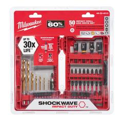 Shockwave Impact Duty Steel Driver Bit Set (50-Piece)