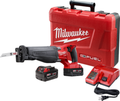 Milwaukee 2720-22 M18 FUE SAWZALL Reciprocating Saw Kit (2 Batteries)