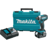 Makita 18V LXT® Lithium-Ion Cordless Impact Driver Kit, var. spd., rev., L.E.D. Light, case, 1 ea. Battery (3.0Ah)