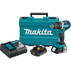 "Makita 18V LXT® Lithium-Ion Compact Brushless Cordless 1/2"" Driver-Drill Kit, 2-speed, var. spd., L.E.D. Light, case (2.0Ah)"
