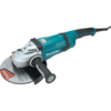 "Makita 9"" Angle Grinder, 15 AMP, Soft Start, 6,000 RPM, 5/8""-11, no lock-off, lock-on"