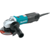 "Makita 5"" SJS™ Paddle Switch Angle Grinder, 13 AMP, 2,800-10,500 RPM, 5/8""-11, lock-off, no lock-on"