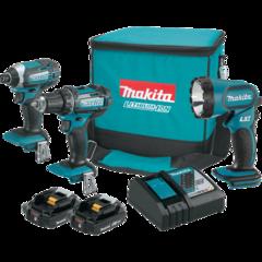 Makita 18V LXT® Lithium-Ion Compact Cordless 3 Pc. Combo Kit (2.0Ah)