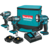 Makita 18V LXT® Lithium-Ion Compact Cordless 3 Pc. Combo Kit (2.0Ah)