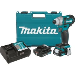 Makita 12V max CXT™ Lithium-Ion Brushless Cordless Impact Driver Kit, 2-speed, var. spd., L.E.D. Light, case (2.0Ah)