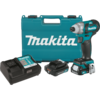 Makita 12V max CXT™ Lithium-Ion Brushless Cordless Impact Driver Kit, 2-speed, var. spd., L.E.D. Light, case (2.0Ah)