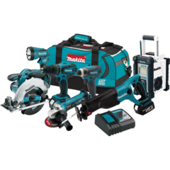 Makita 18V LXT® Lithium-Ion Cordless 7 Pc. Combo Kit