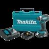 Makita 18V Compact Lithium-Ion Cordless Impact Driver Kit, var. spd., rev., L.E.D. Light, case (2.0Ah)