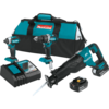 Makita 18V LXT® Lithium-Ion Brushless Cordless 3 Pc. Combo Kit (4.0Ah)